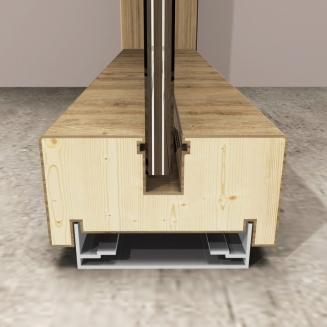 מחיצה בעלת פרופילי עץ דגם RITMICA