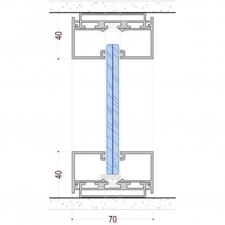 מערכת מחיצות זכוכית דגם RITMICA