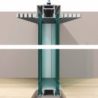 מערכת Metrica מחיצה בעלת זיגוג כפול